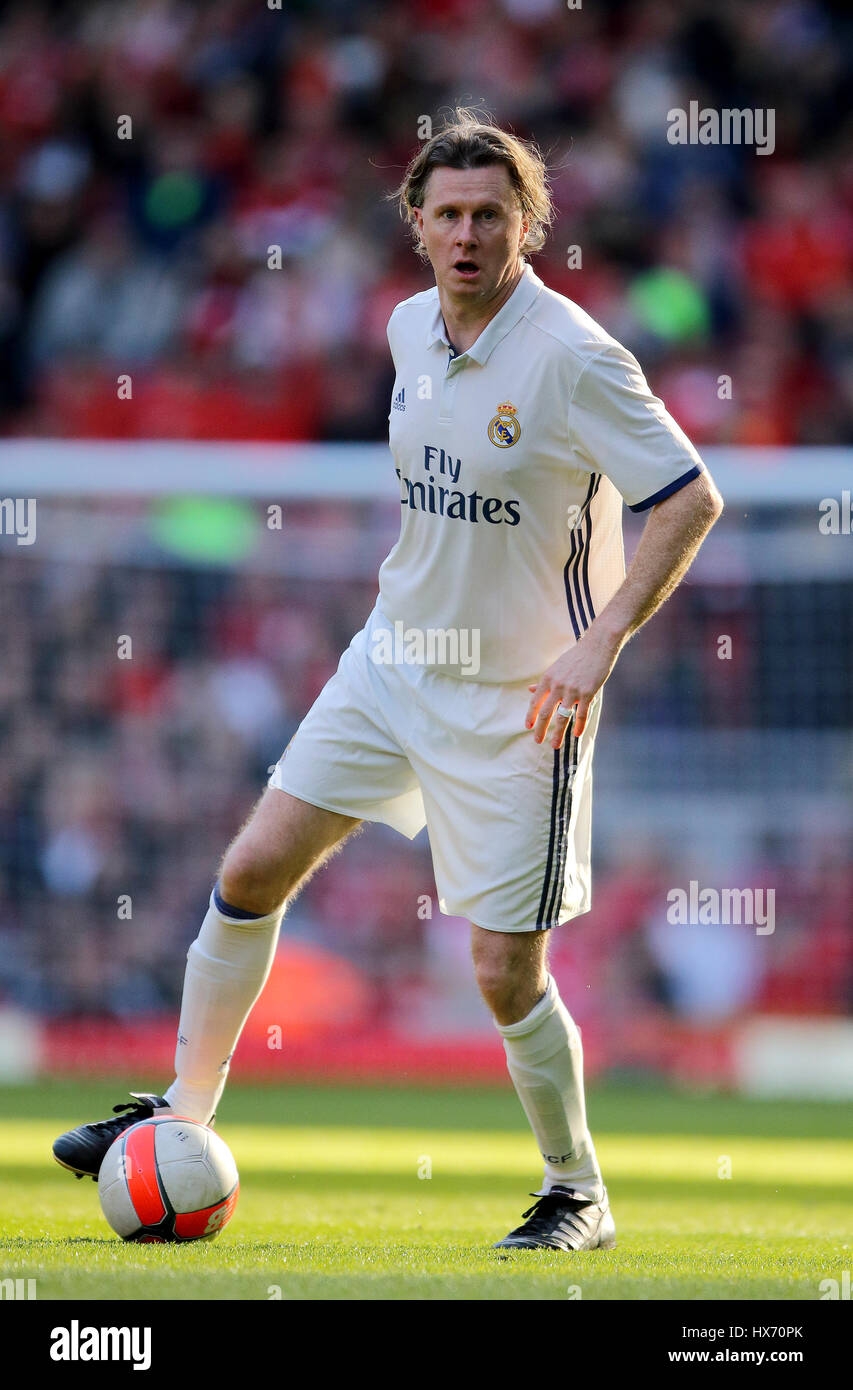 09183afe1 Real Madrid s Steve McManaman during the charity match at Anfield