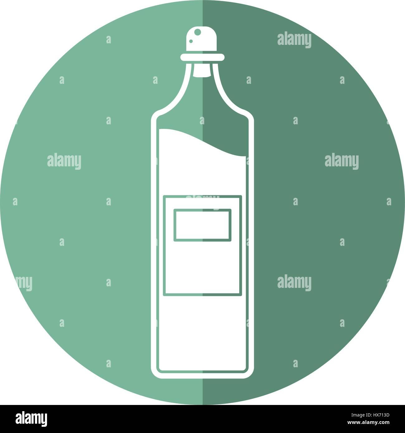 bottle juice fresh healhty icon - Stock Image