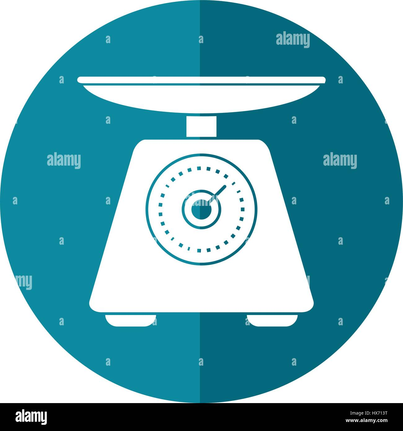 scale food tool healthy-shadow - Stock Image