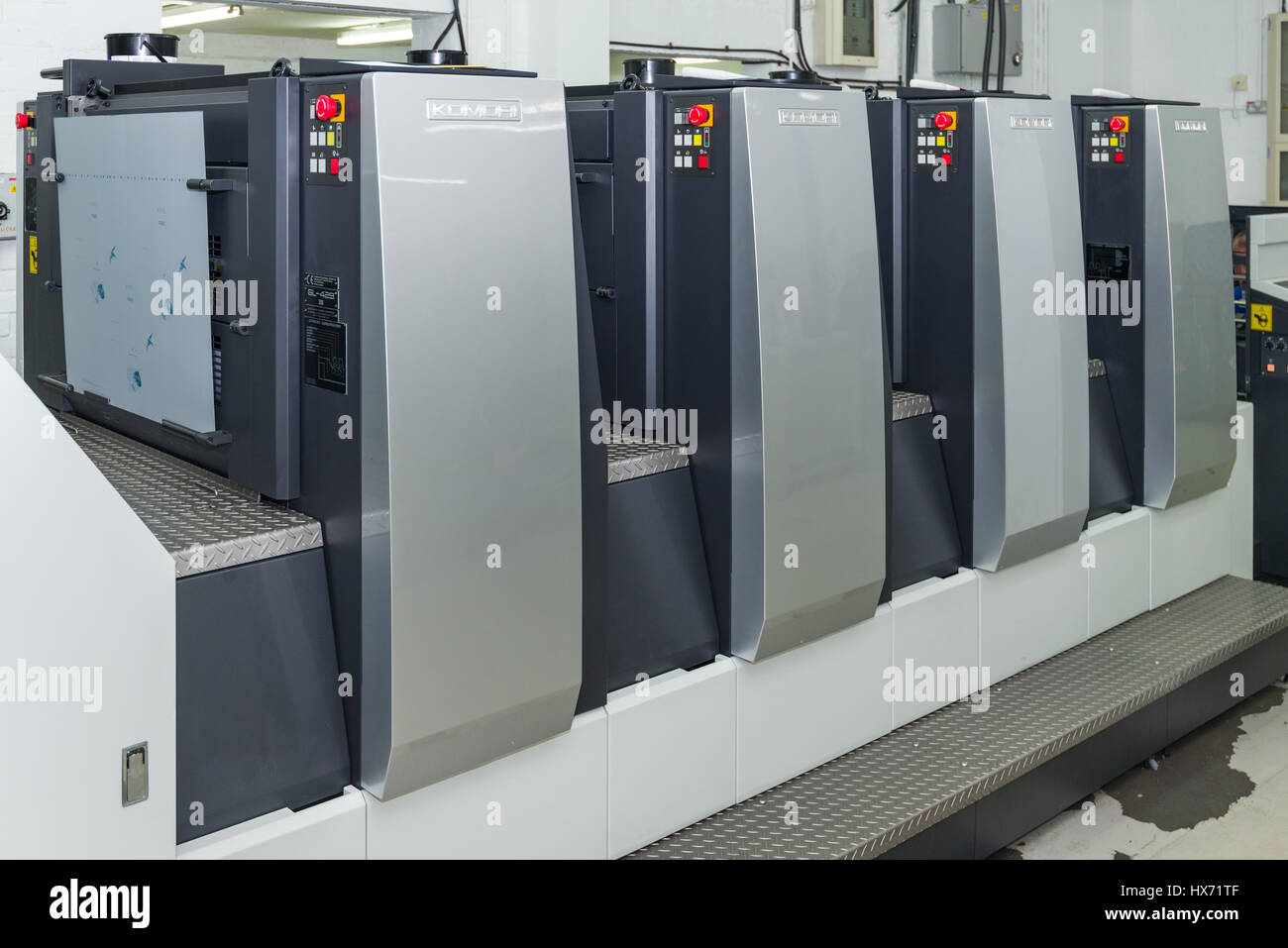 Komori Lithrone G29 Offset Printing Press - Stock Image