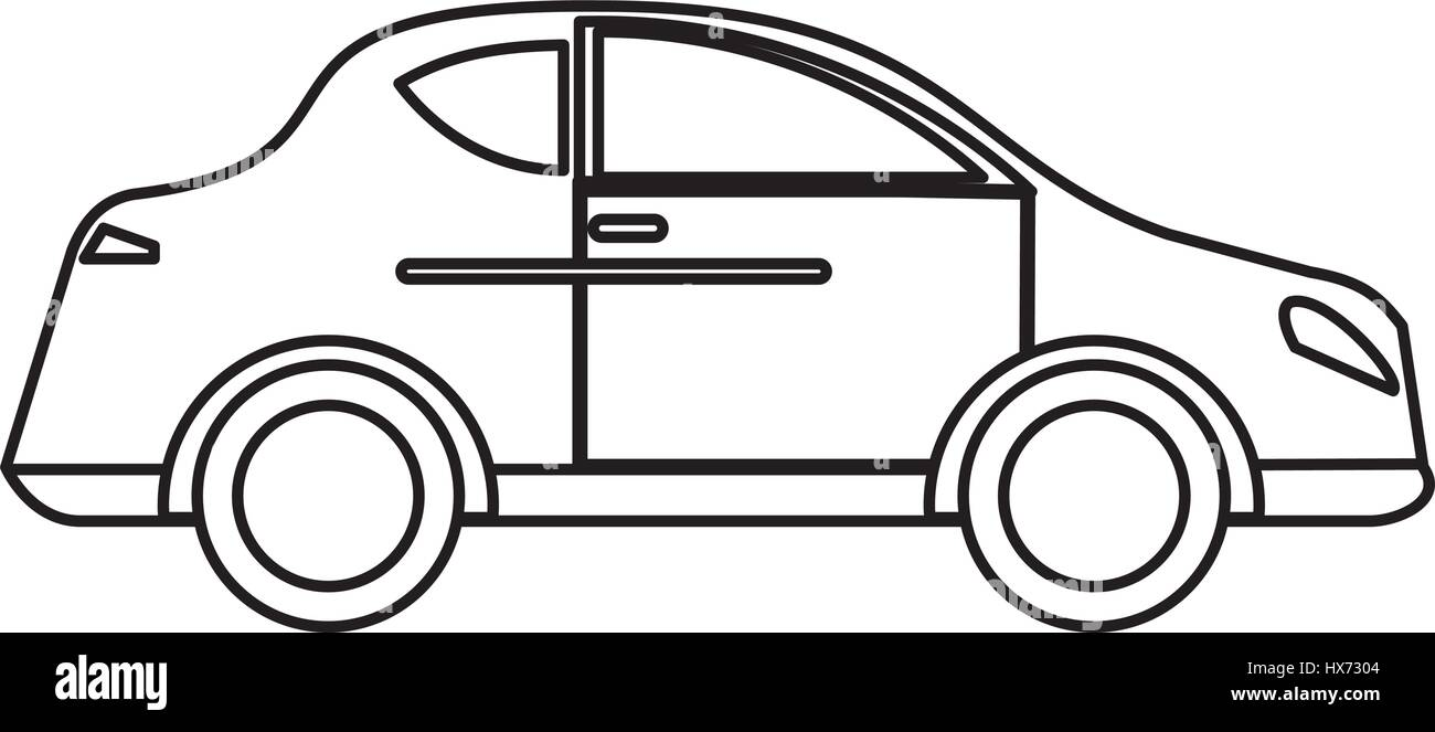 Car Sedan Vehicle Transport Outline Stock Vector Art