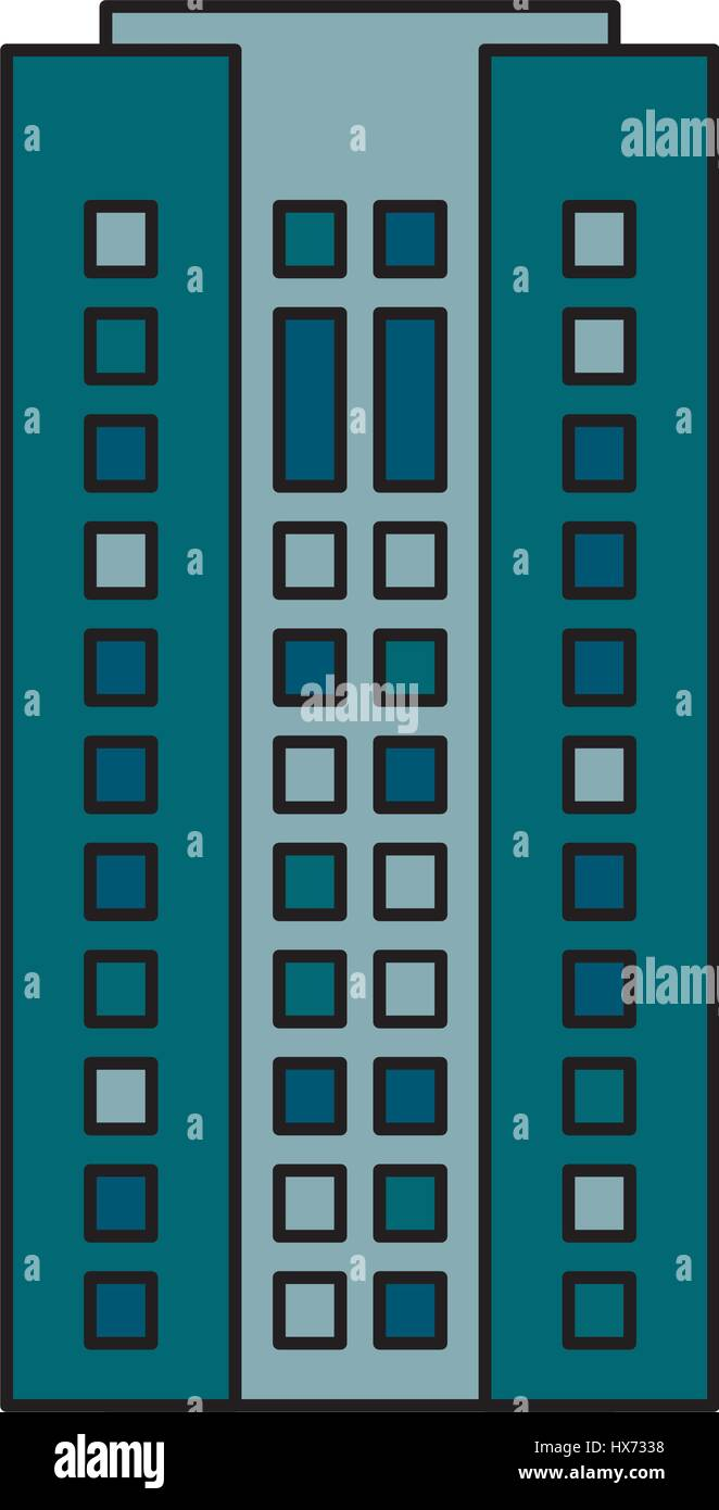 building cityspace residential image - Stock Vector