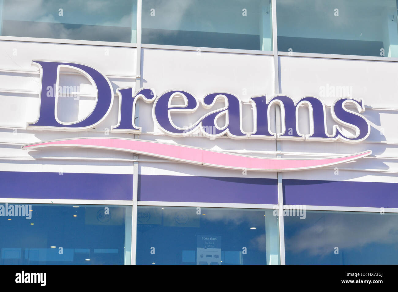 Dreams Beds sign - Stock Image