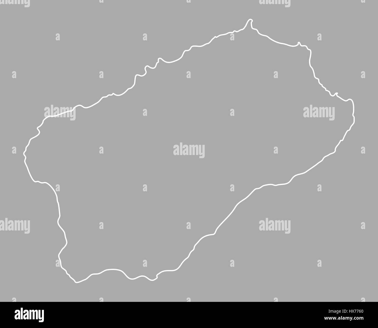 Map of Santo Antao Stock Photo