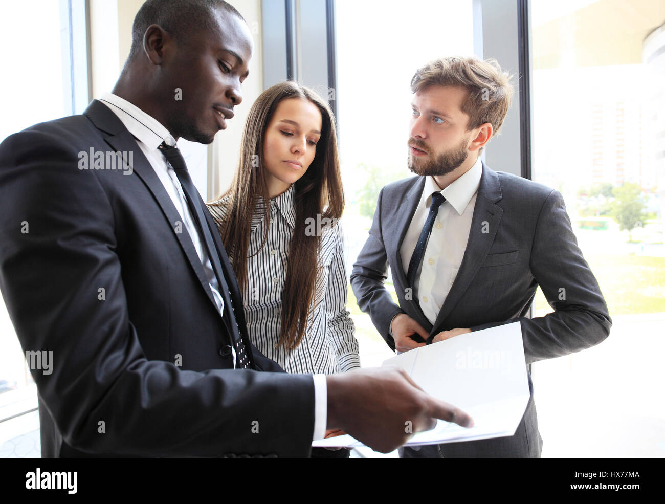 Business People Working Teamwork Cooperation Conference. - Stock Image