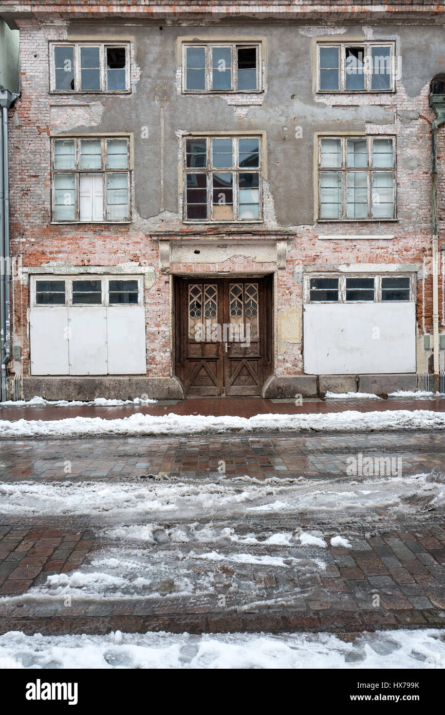 abandoned residential building - Stock Image