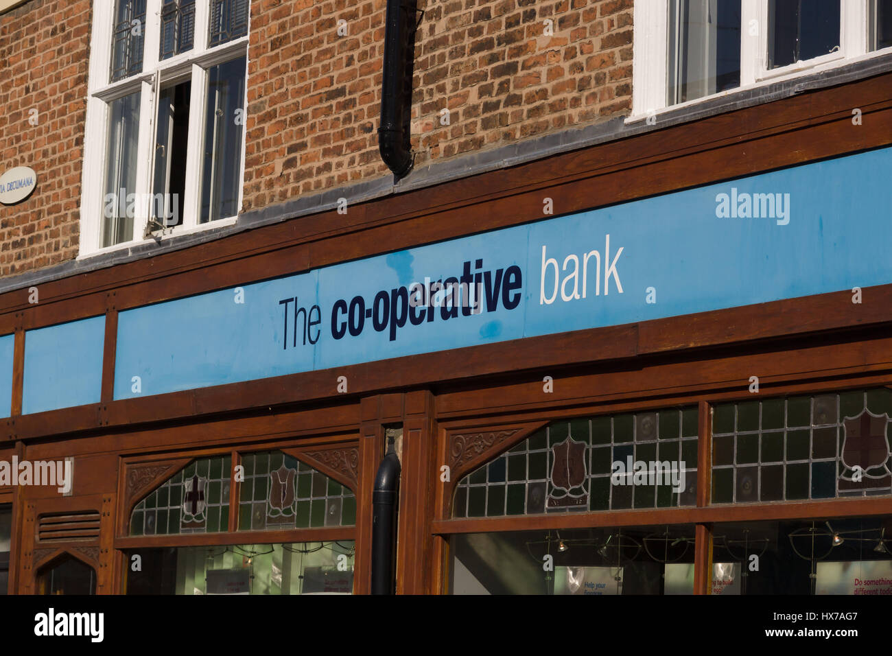 Co-Operative Bank branch in Chester England - Stock Image