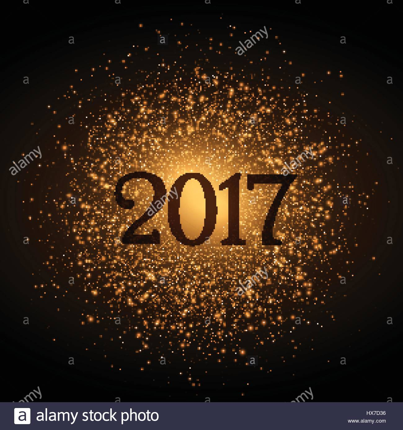 Golden Glitter Background For 2017 New Year Eve
