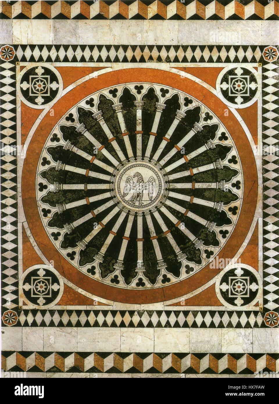 Pavimento di siena, aquila imperiale 01 Stock Photo