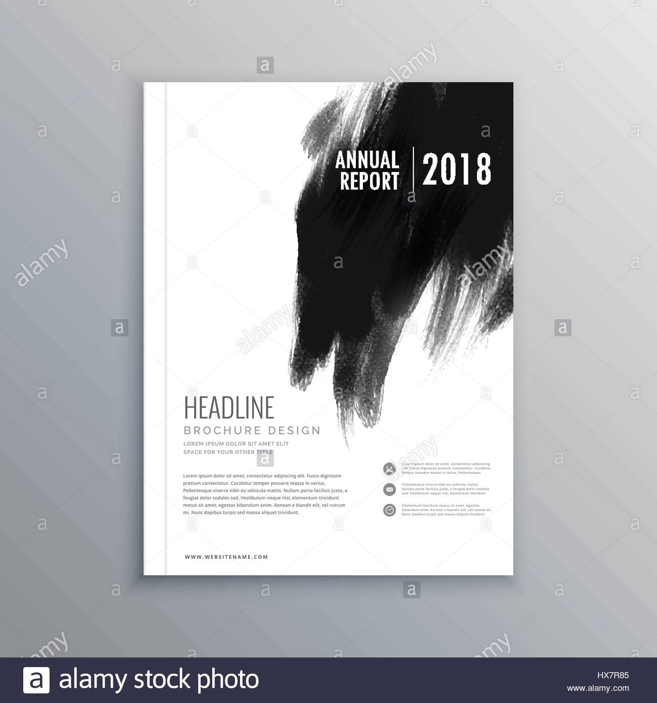 Creative Book Cover Page Design ~ Creative business magazine cover page layout with black