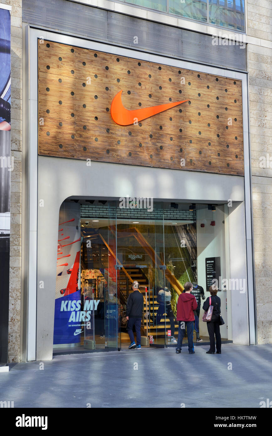 Nike Shop Front High Resolution Stock