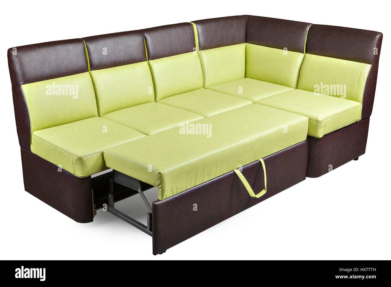 leatherette l shaped dining furniture corner bench decomposed stock photo 136626801 alamy. Black Bedroom Furniture Sets. Home Design Ideas