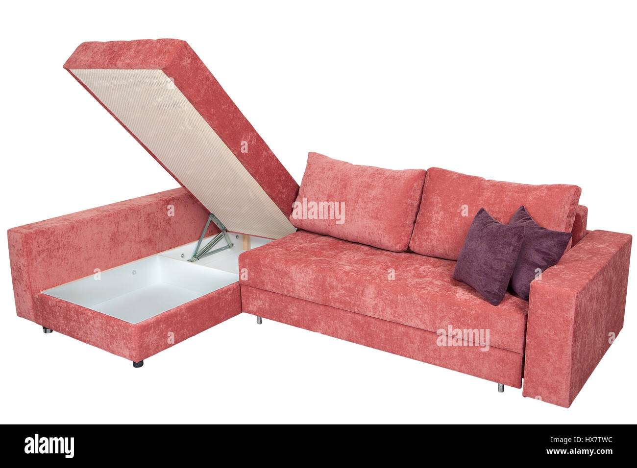 Corner Convertible Sofa Bed With Storage Space Upholstery