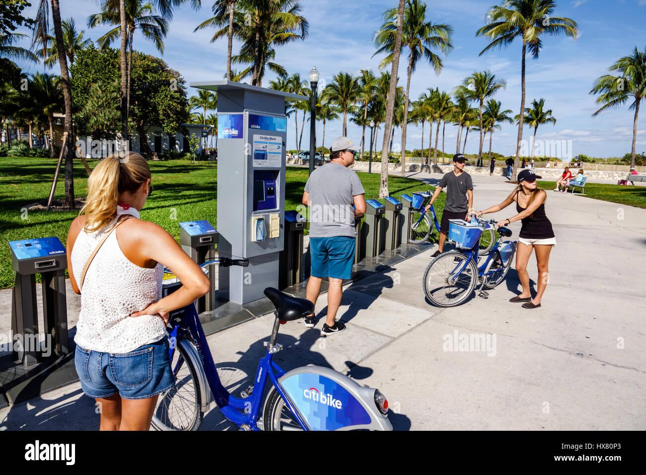 Citi Bike Miami >> Miami Beach Florida Lummus Park Citi Bike Bicycle Sharing