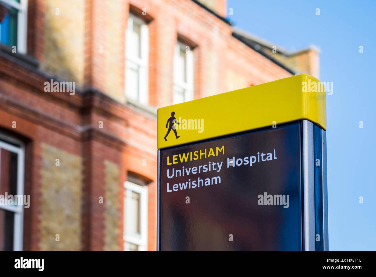 university hospital lewisham south london stock photos. Black Bedroom Furniture Sets. Home Design Ideas