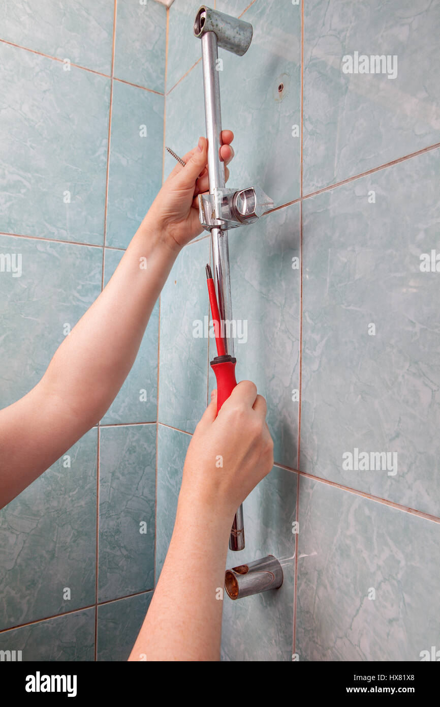 Slide Rail Shower Stock Photos & Slide Rail Shower Stock Images - Alamy