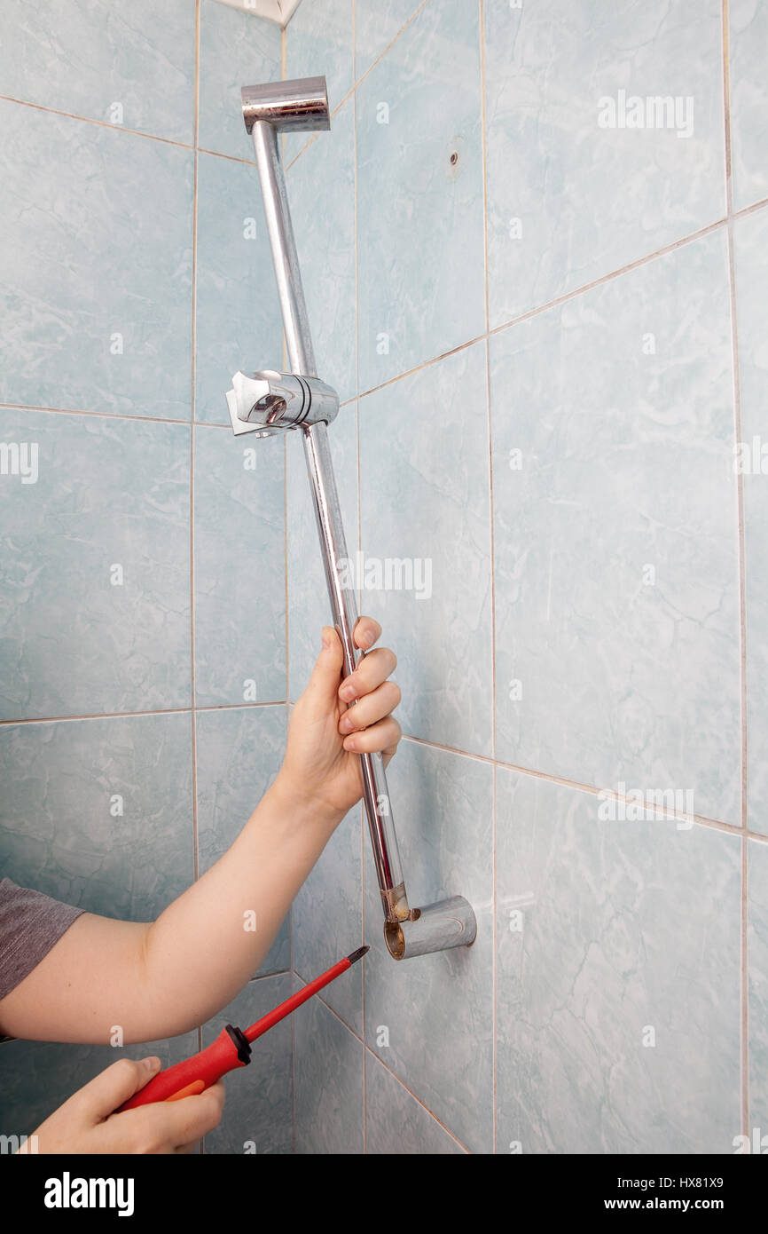 Shower Rail Slider Stock Photos & Shower Rail Slider Stock Images ...