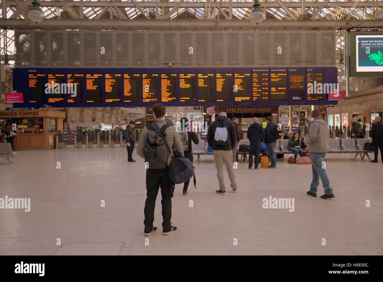 central station Glasgow interior - Stock Image