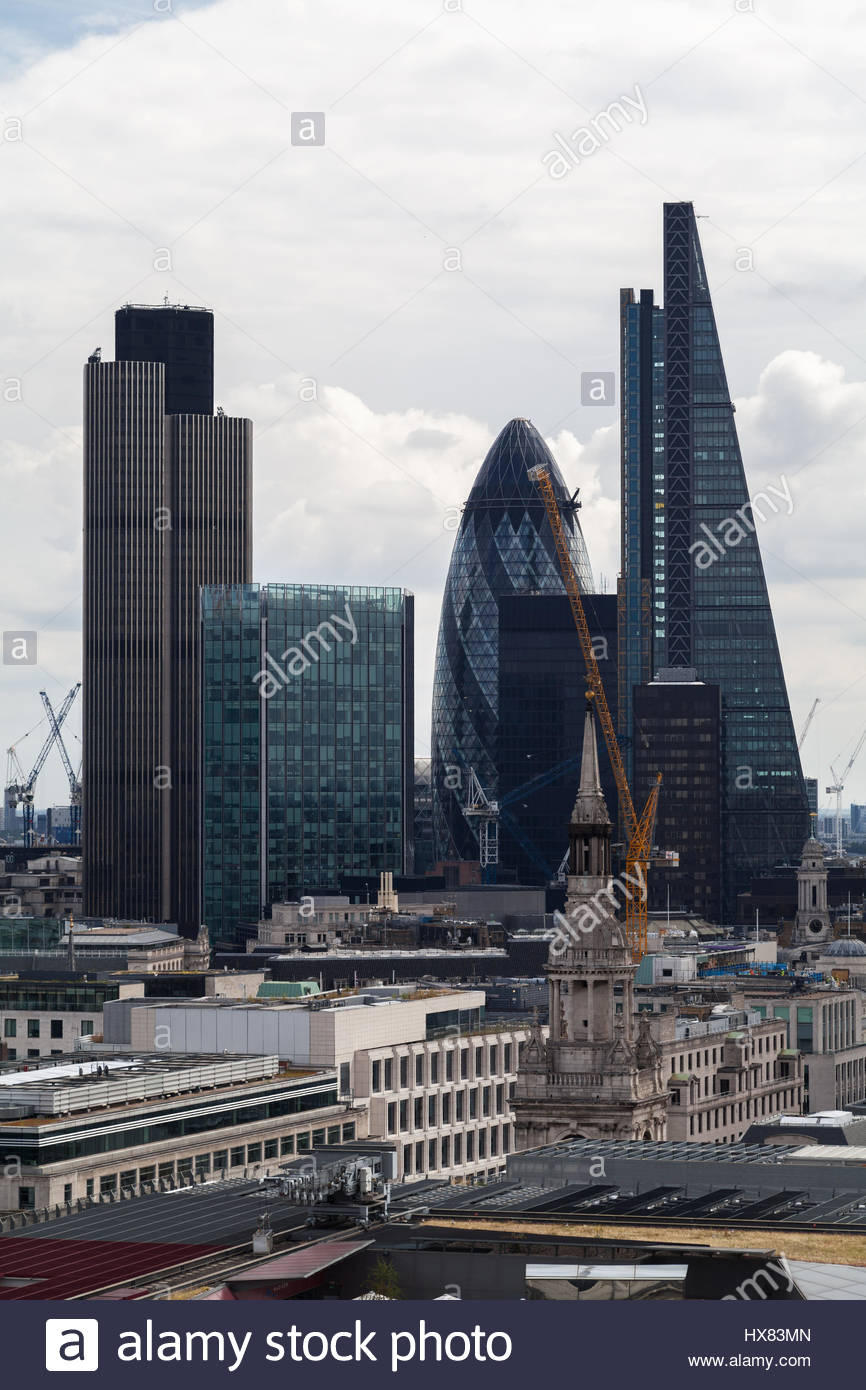 The City of London is one of the oldest financial centres and today remains at the heart of London's financial - Stock Image
