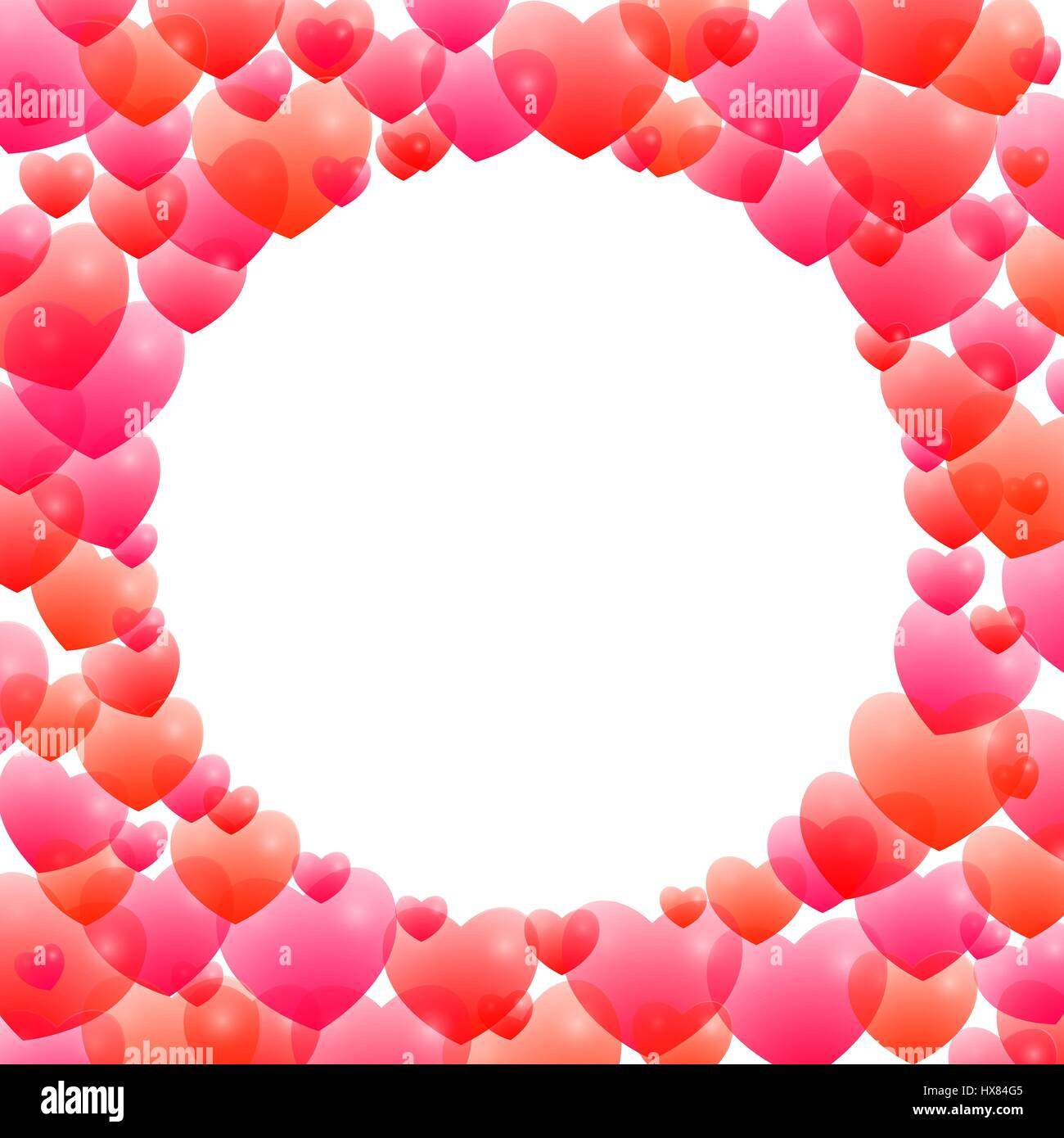 Pink Square Love Hearts Heart Frame Border Stock Photos & Pink ...