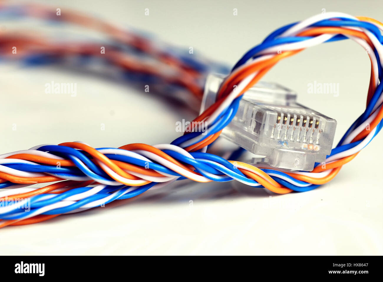 Incredible Plug Wire Color Lan Stock Photo 136634071 Alamy Wiring 101 Olytiaxxcnl