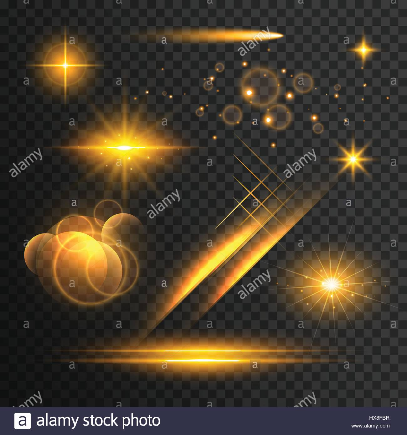 transparent lights effect collection Stock Vector