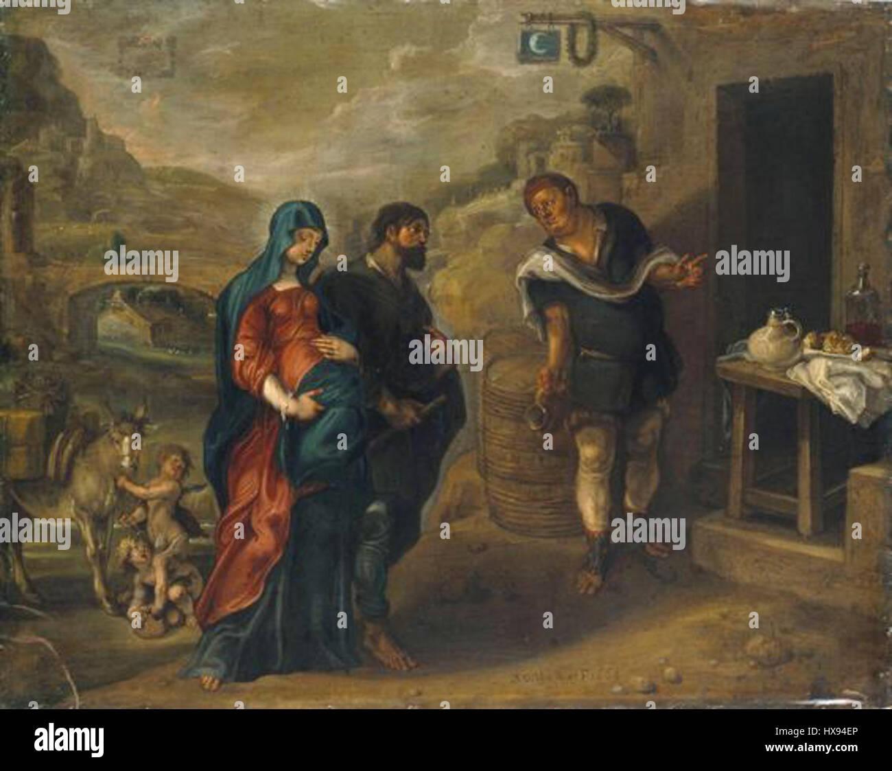 Mary And Joseph Seeking Refuge In Bethlehem Simon De Vos