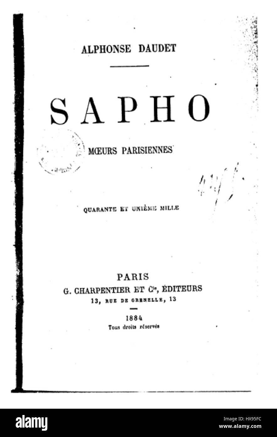 Sapho - Stock Image