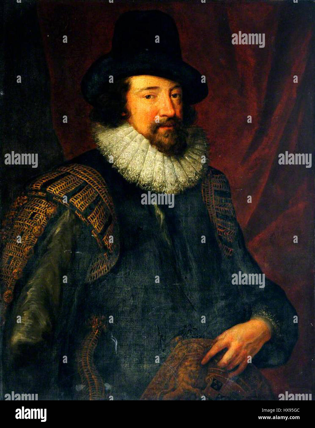 Portrait of Sir Francis Bacon (1561 1626 Stock Photo ...