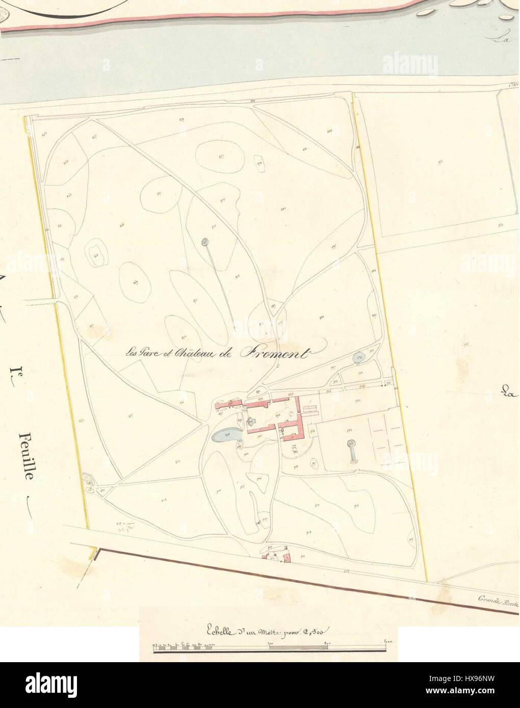 Plan Cadastre Napoleon Fromont Stock Photo Alamy