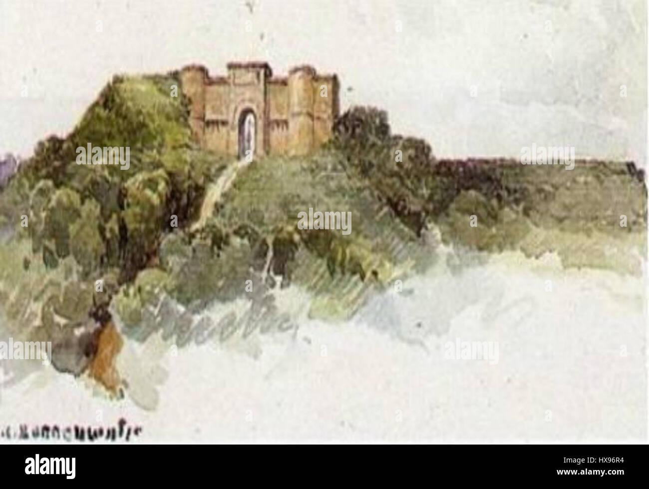 Puerta fortificada del Fuerte AgC3BCi, 1911 - Stock Image