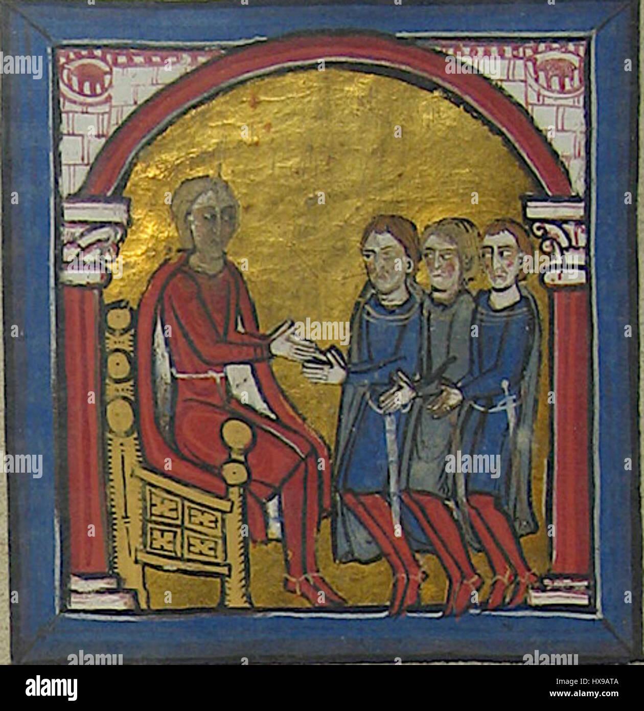Raymond Wilfred I of Cerdanya receives the homage of Bertran of Salt - Stock Image