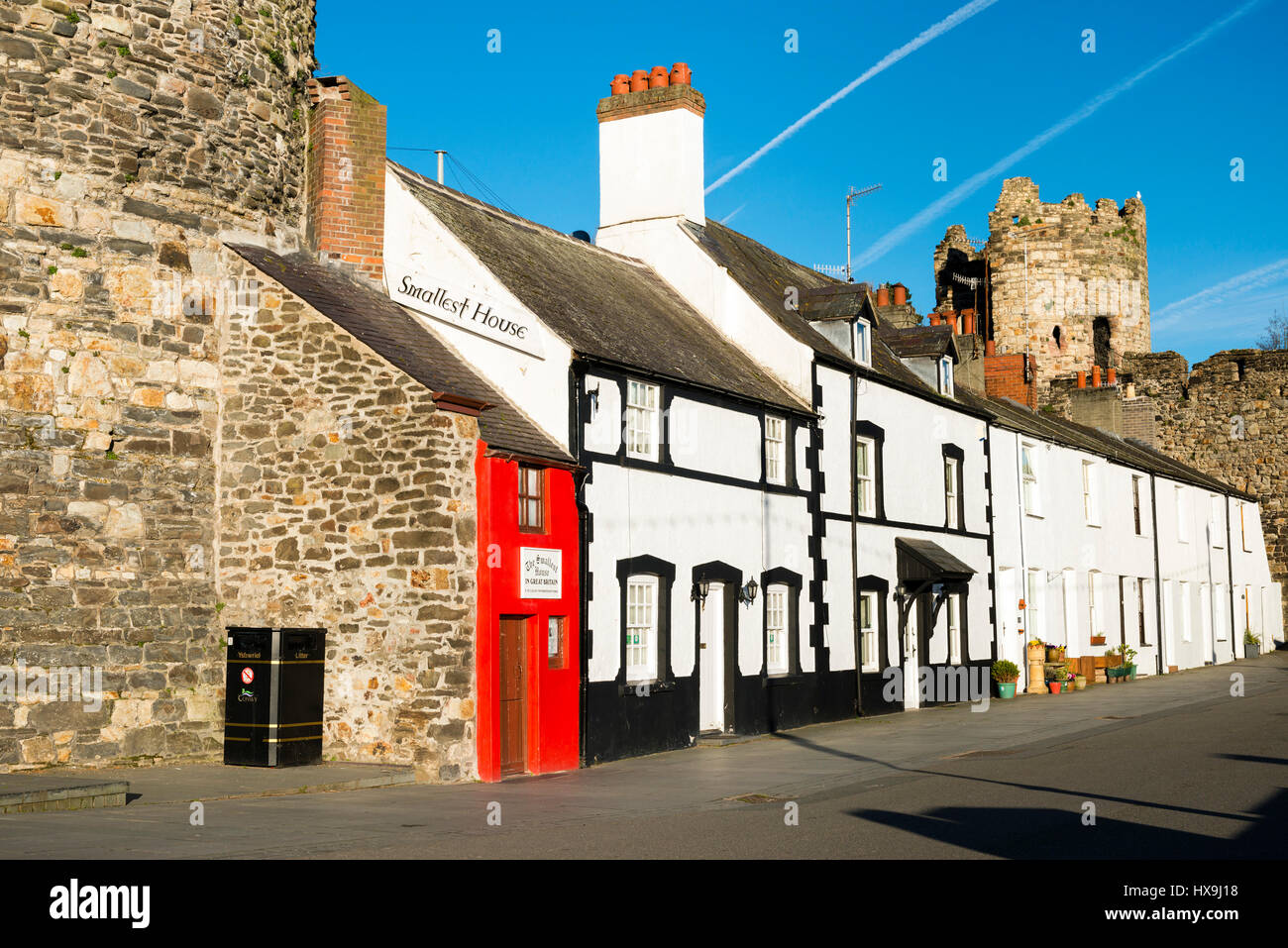 The smallest house in Great Britain, Conwy, Wales, UK. - Stock Image