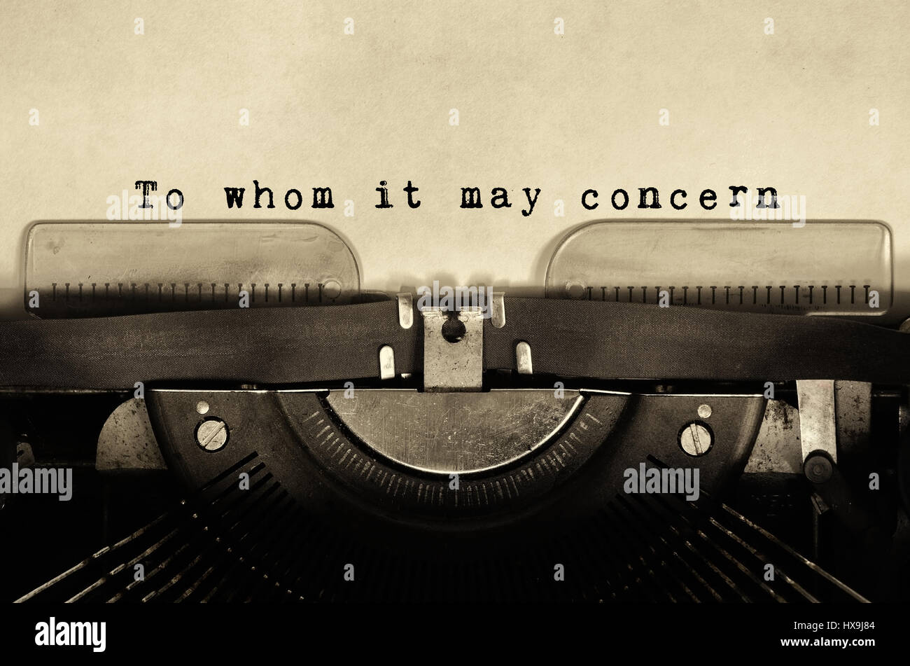 To whom it may concern stock photos to whom it may concern stock to whom it may concern words typed on vintage typewriter stock image spiritdancerdesigns Images