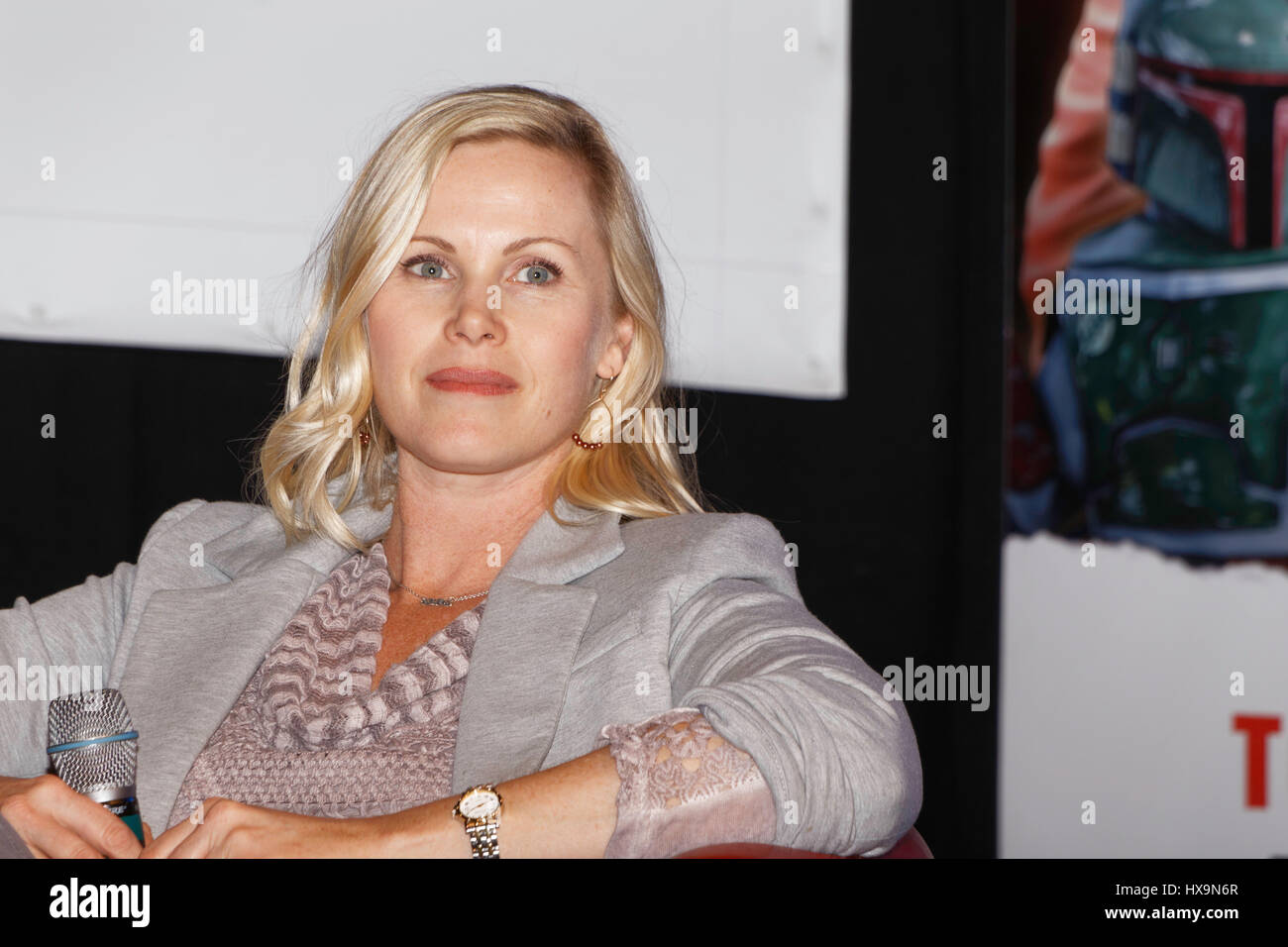 Paris, France, 25th March 2017. Catherine Sutherland, actress (Mighty Morphin Power Rangers) attends the 23rd édition - Stock Image