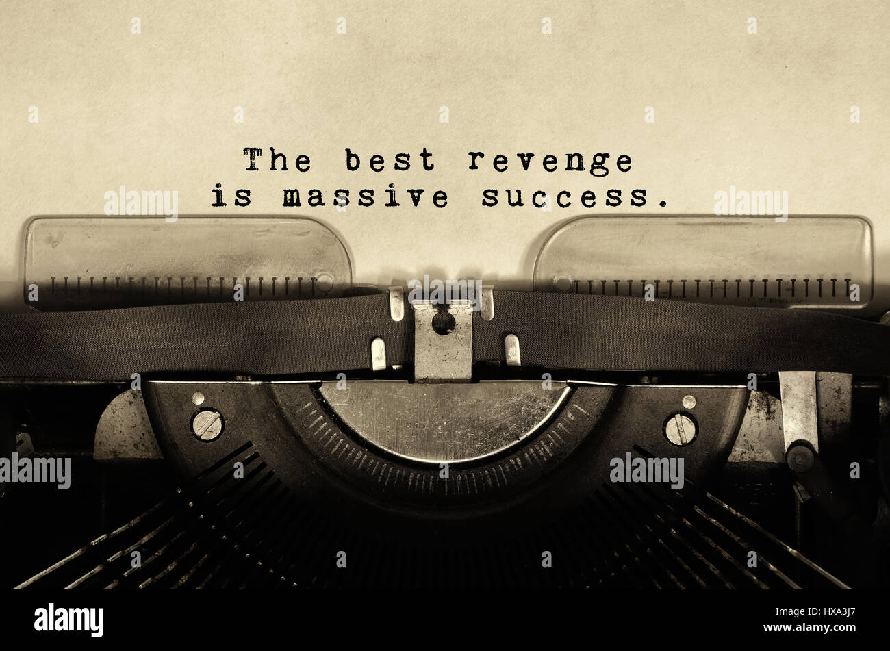 Inspirational Quotes The Best Revenge Is Massive Success Typed On