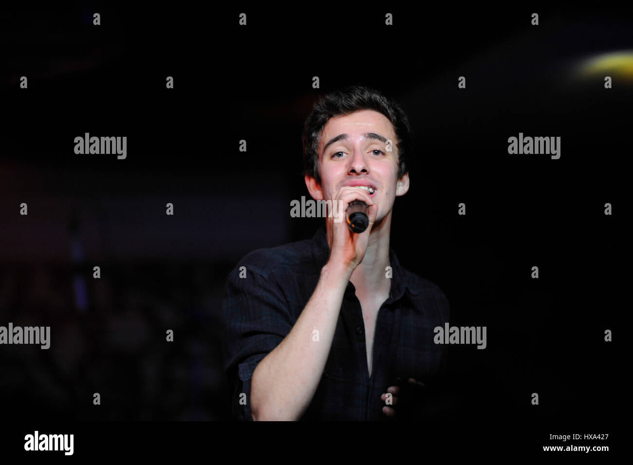 Singer Jack Met of AJR performs at Lucky Strike Hollywood on October 16th, 2014 in Hollywood, California. - Stock Image