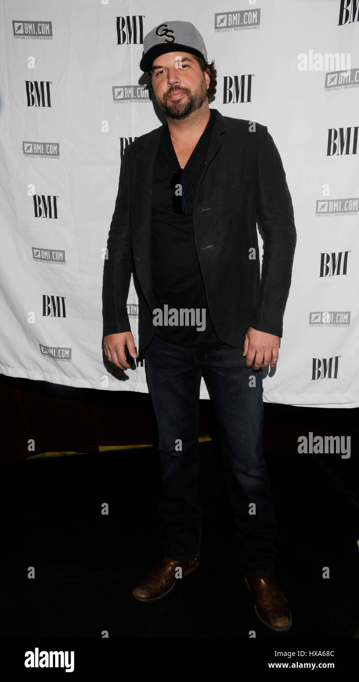 Dallas Davidson attends the 2014 BMI 'How I Wrote That Song' panel at the House of Blues Sunset on January - Stock Image
