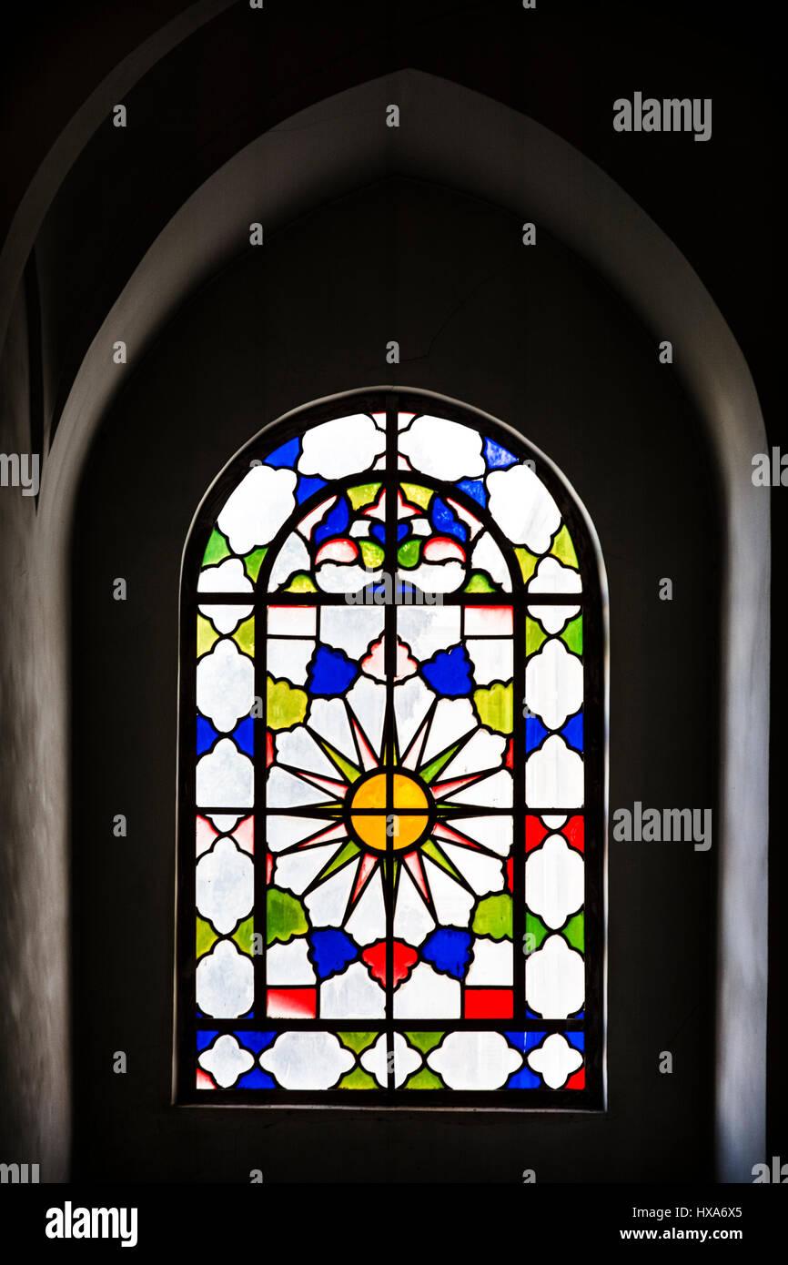 colorful window - Stock Image