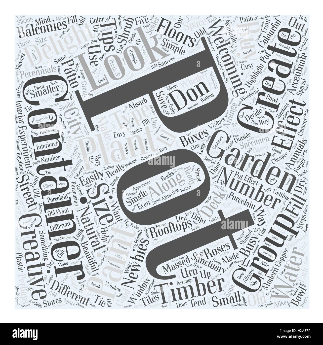 containergardening Word Cloud Concept - Stock Image