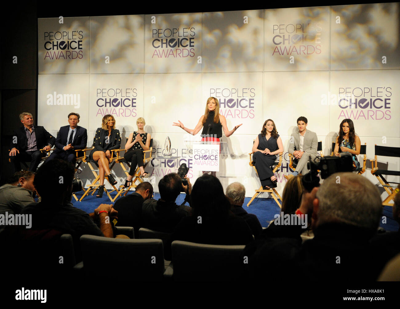 Atmosphere at the 2014 People's Choice Awards nominations announcement at The Paley Center for Media on November - Stock Image