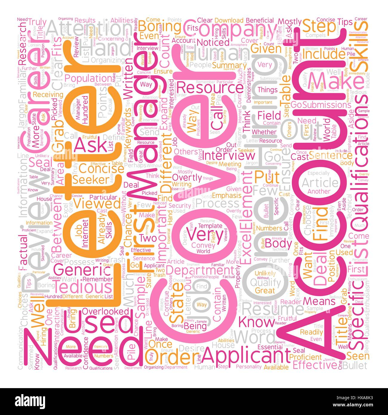 Cover Letter For Accountants Text Background Wordcloud Concept   Stock Image