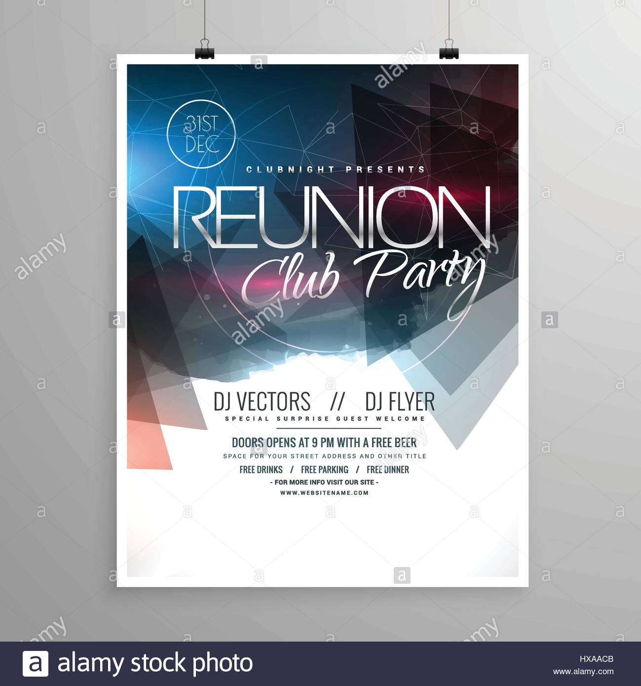 event club party flyer template brochure design stock vector art