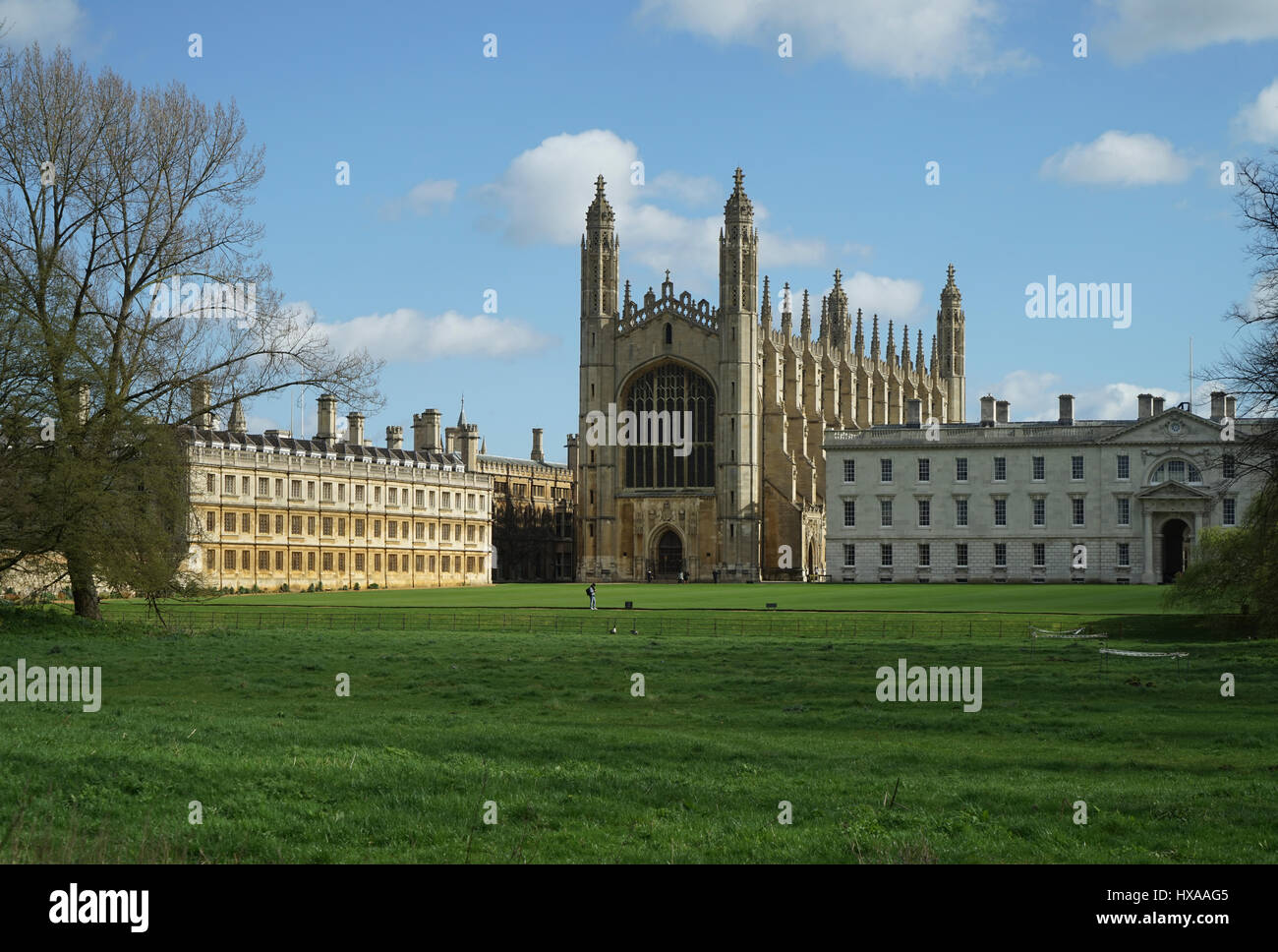 King's College , Cambridge from The Backs. - Stock Image