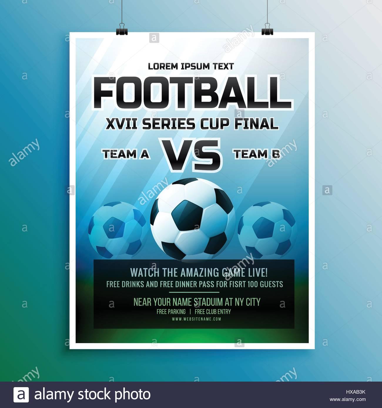 football game event tournament invitation design template Stock ...