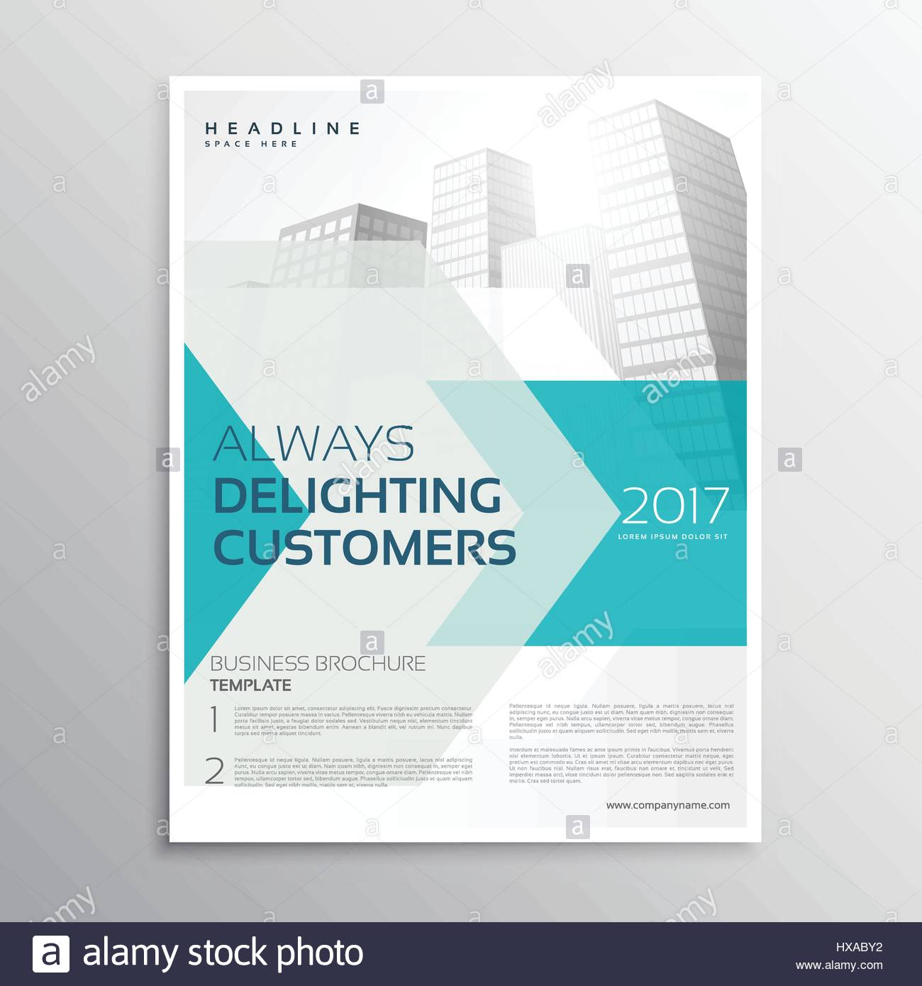 Business brochure leaflet template with arrow and geometric shape business brochure leaflet template with arrow and geometric shape and buildings cheaphphosting Image collections