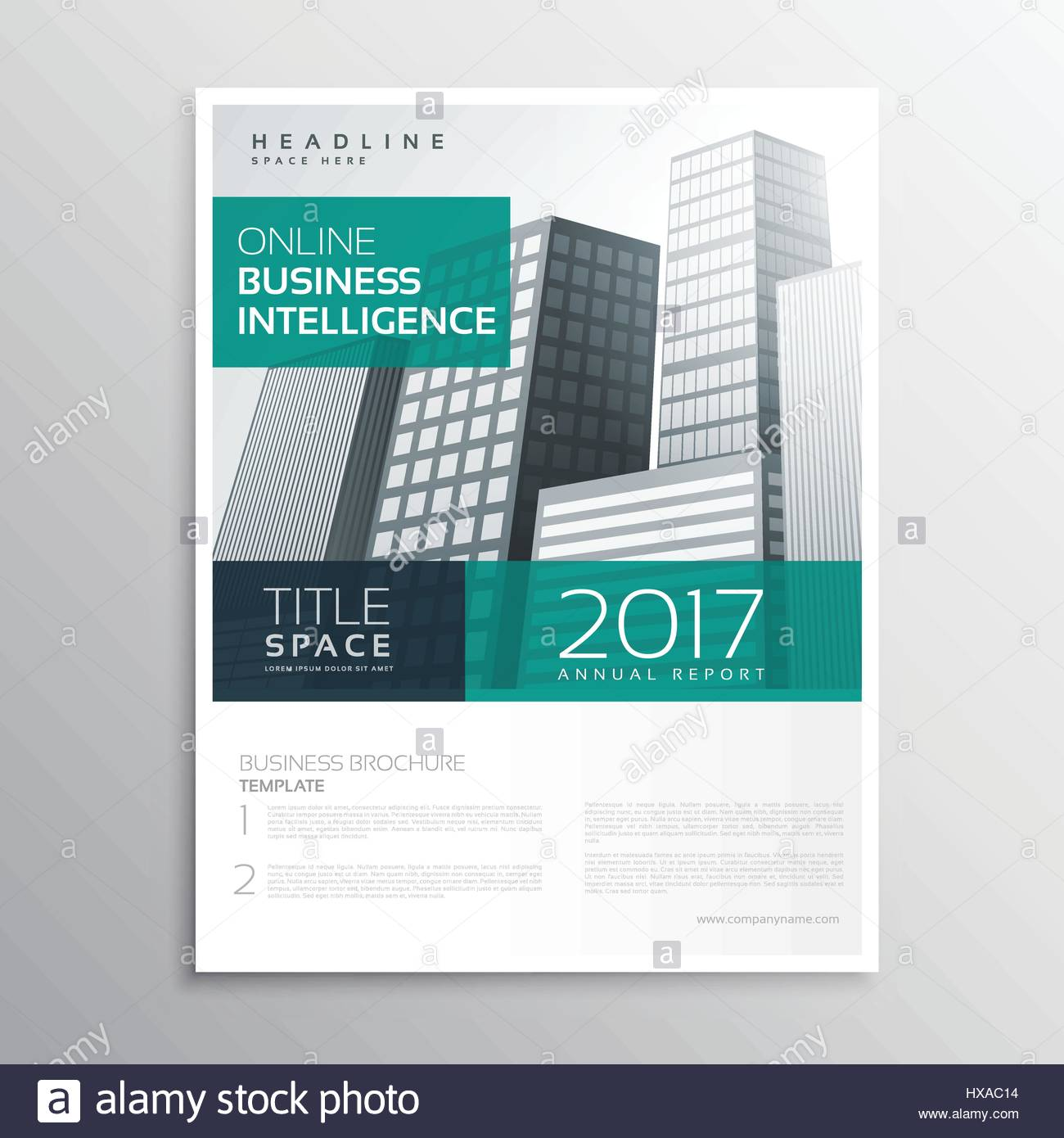 company business brochure template design with buildings in a4 size
