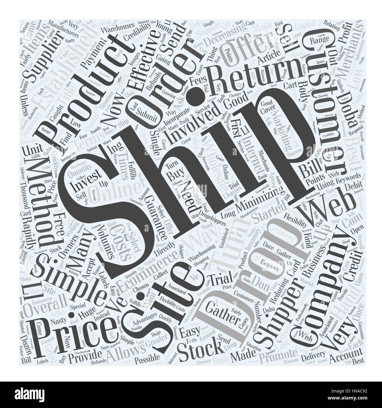 Drop Shipping Made Easy Word Cloud Concept - Stock Vector