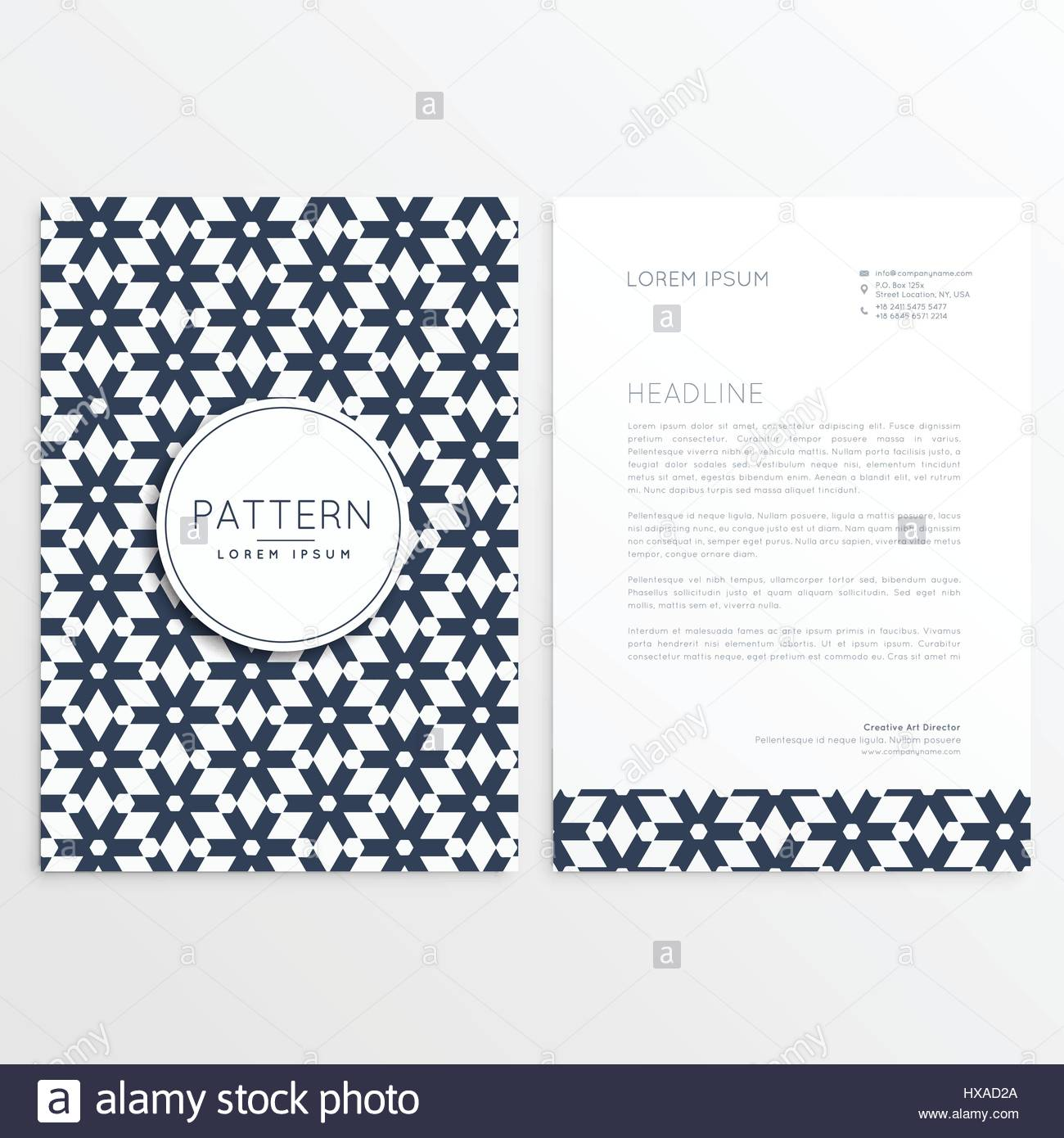 Business Letterhead Template In Abstract Shape Stock Vector Art