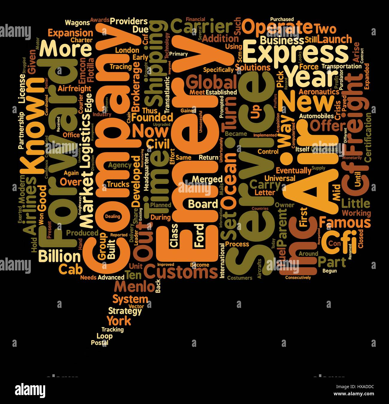 express air freight text background wordcloud concept - Stock Vector